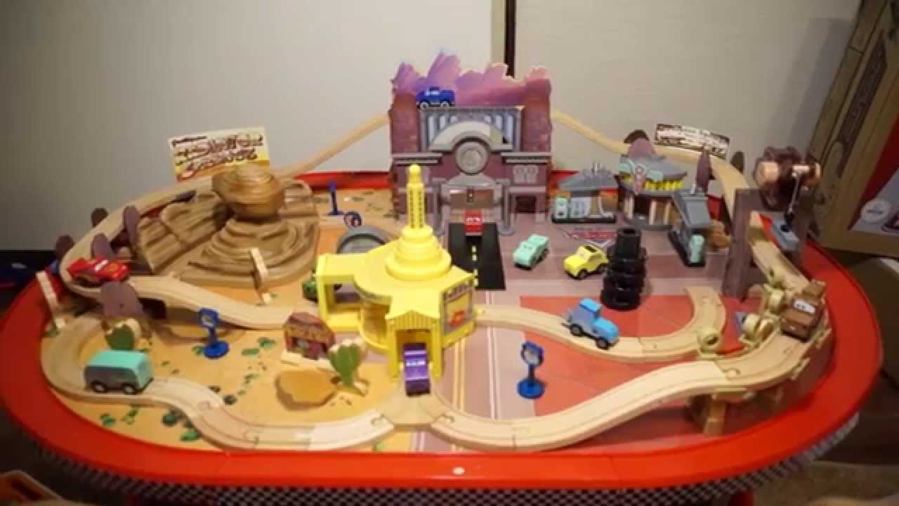 Cars Radiator Springs Race Track Set Table Disney Pixar