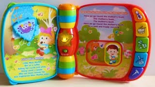 Vtech Baby Musical Rhymes Book for babies and toddlers Multi Coloured