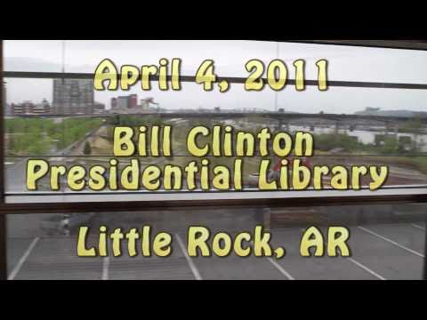 April 4, 2011 - Paul and Elaine's Trip to Hot Springs, AR - Clinton Library in Little Rock