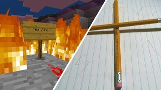 Doing the Charlie Charlie Challenge While Playing Minecraft! (Pencil Game)