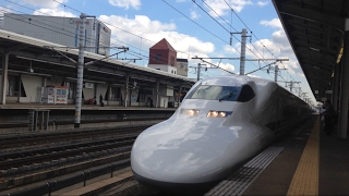 ピカピカ編成!JR東海700系0番台 C54編成 (こだま649号新大阪行き) 三河安城入線