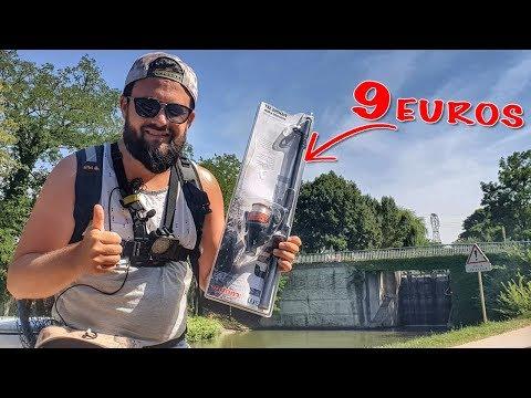 Je pêche avec un COMBO (CANNE+MOULINET) à 9 Euros ...