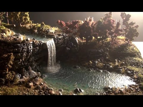 Waterfall diorama + Christian message!