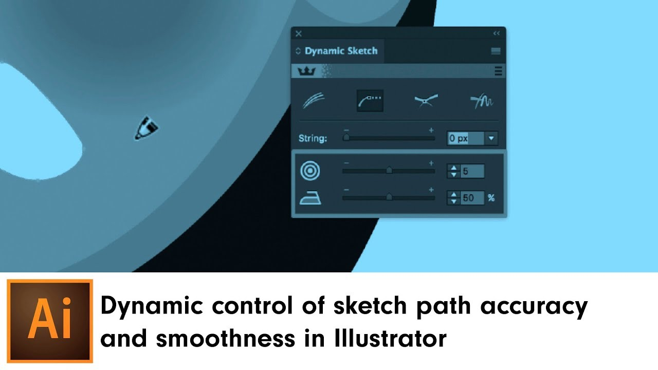Dynamic control of sketch path accuracy and smoothness in Illustrator    DynamicSketch