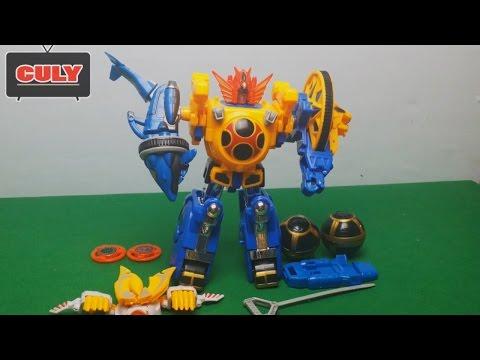 Robot siêu nhân cuồng phong - power rangers ninja storm megazord toy for kid - đồ chơi lắp ráp