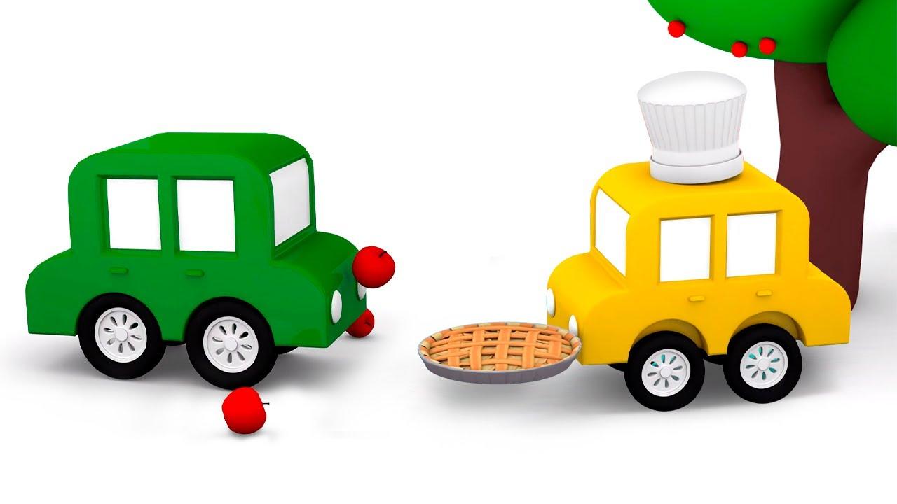 Мультик про 4 машинки и яблочный пирог - Развивающие мультфильмы для малышей. Учим цвета