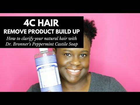 How To Remove Product Build Up with Dr. Bronner's for Natural 4C Hair | The Natural Cole