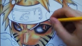 Drawing Naruto kyubi mode and ichigo hollow