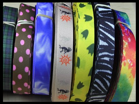 Printed Patterned Ribbons From Strapworks.com Come In Dozens Of Styles To Suit Any Application