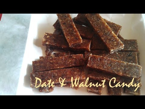How to Make Date & Walnut Candy (Heart Healthy) | Date & Walnut Candy Recipe