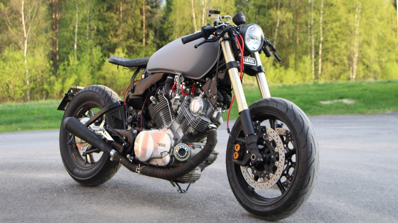 yamaha virago 750 cafe racer youtube. Black Bedroom Furniture Sets. Home Design Ideas