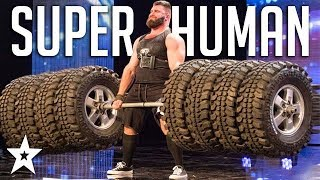 SUPERHUMAN WEIGHTLIFTER Deadlifts 8 Tires on Portugal