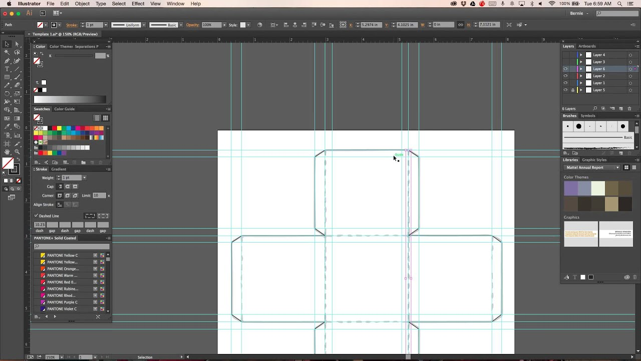 Illustrator creating package template youtube for Adobe illustrator packaging templates