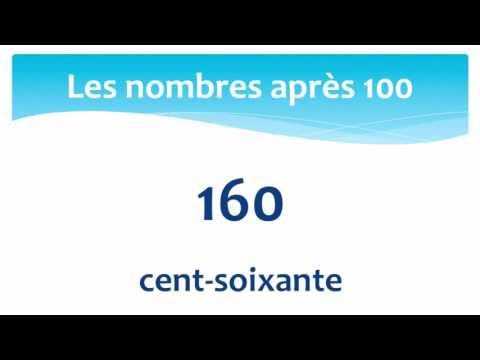 Numbers between 100 and 200 in French - Les nombres entre 100 et 200 en Français