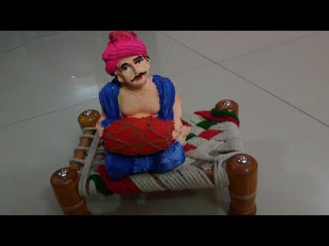 Easy DIY craft ideas , tribal man POP statue with glugun mold #cementcraft DIY for Room Décor