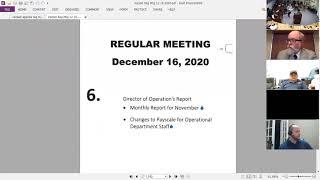LMWD REGULAR MEETING 12 16 2020
