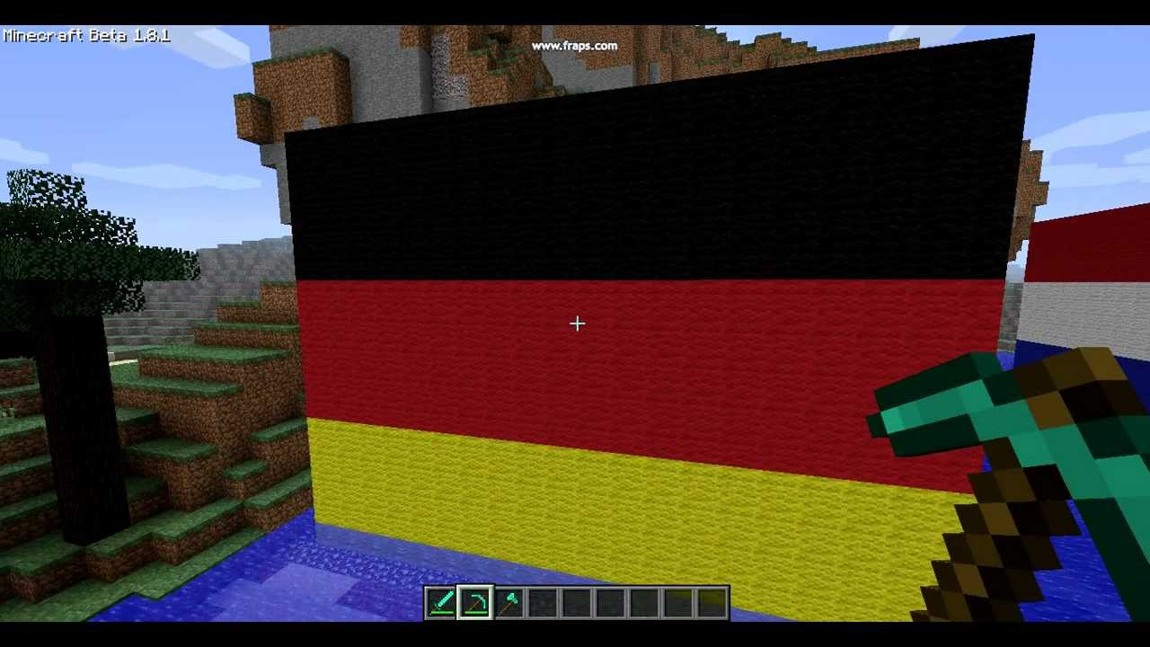 The Flag of Germany Minecraft - YouTube