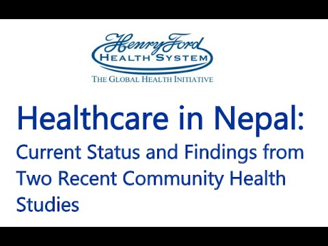 Healthcare in Nepal Lecture - 1/27/2016