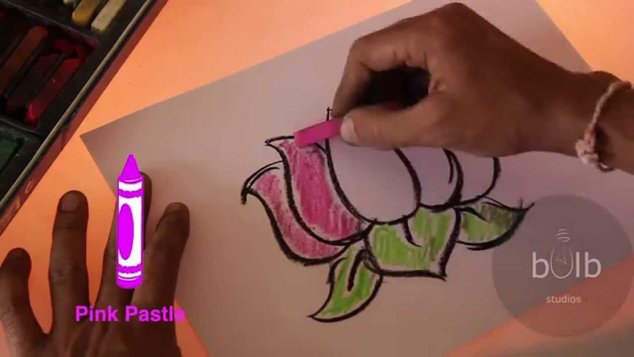 Scribble Drawing For Kids : How to draw a lotus scribble for kids youtube