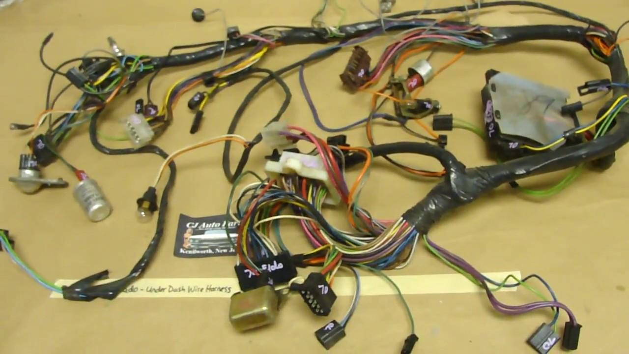 70 cadillac eldorado complete under dash wire harness fuse box rh youtube com