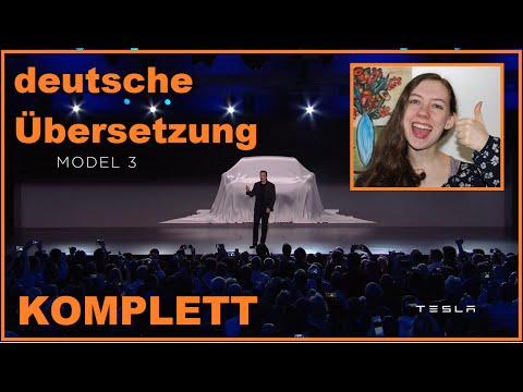 Tesla Model 3 | Vorstellung | DEUTSCH / german | Elon Musk unveils | www.baumfrei.de