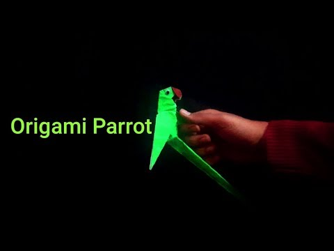 How To Make 3D PARROT From Paper  *Origami Bird*  *Paper DIY*