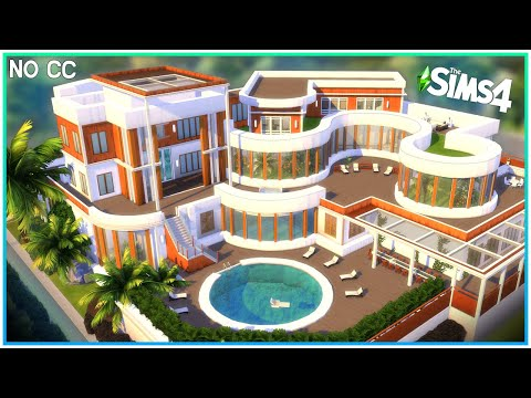 Deluxe Curvy Mansion [No CC] - Sims 4 Speed Build | Kate Emerald