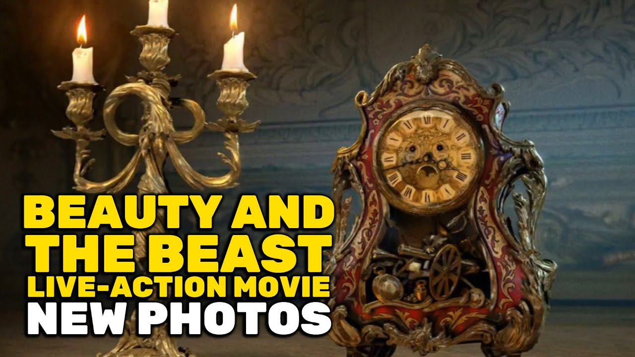 New Beauty And The Beast Photos Reveal Prince Adam Lumiere Cogsworth Gastons Tavern