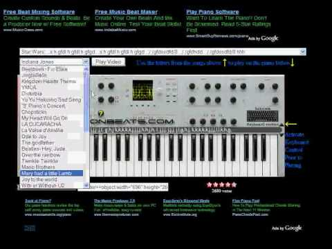 How To Use Buttonbeats Virtual Piano Youtube