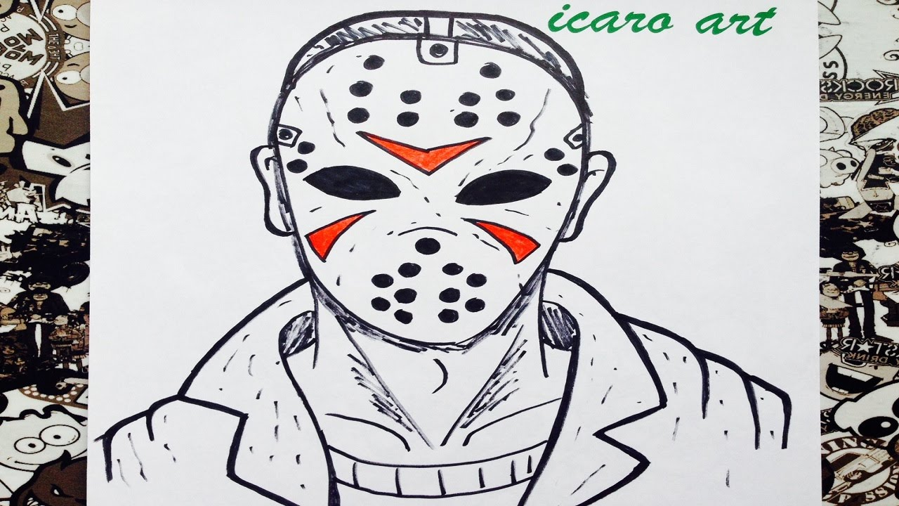 Como Dibujar A Jason How To Draw Jason Terror Youtube