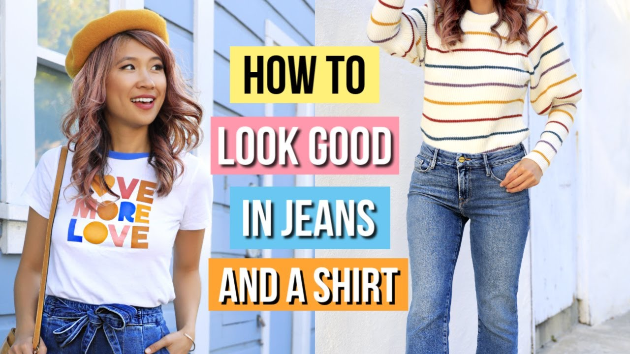 [VIDEO] - How to Look Good in Jeans and a Shirt! 11 Clothing Hacks for Denim! 7