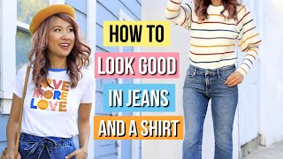 How to Look Good in Jeans and a Shirt! 11 Clothing Hacks for Denim!