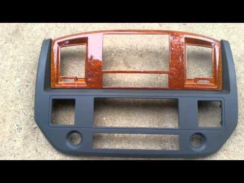 2006 2007 2008 Dodge Ram Double DIN In Woodgrain Via Hydrographics