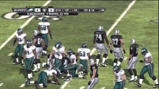 Madden NFL 12 Gameplay (PS3) - Philadelphia Eagles at Oakland Raiders