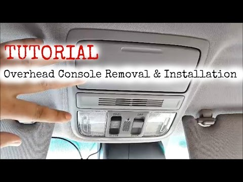 DIY Tutorial: Honda Accord Overhead Console Removal and Installation