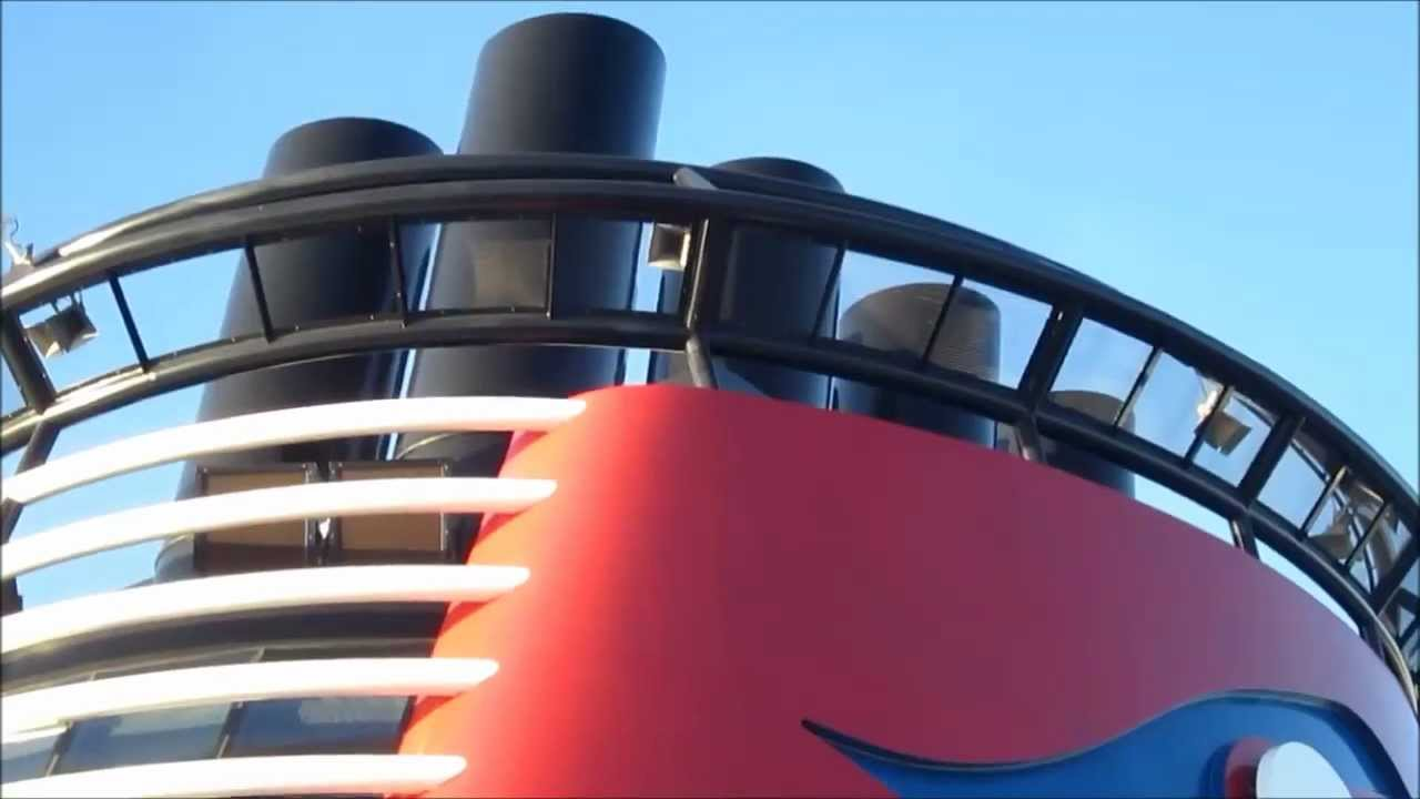 Disney Dream Cruise Ship Playing Melody Horn While Leaving