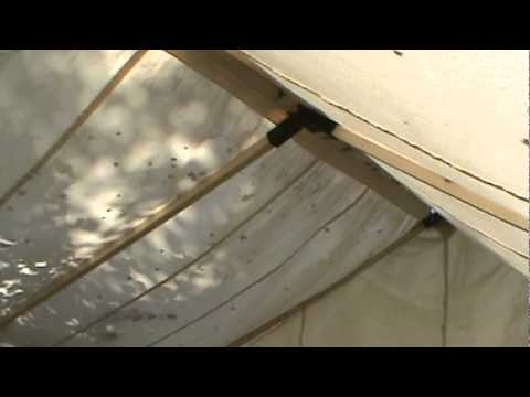 wall tent with wood frame angle kit - YouTube