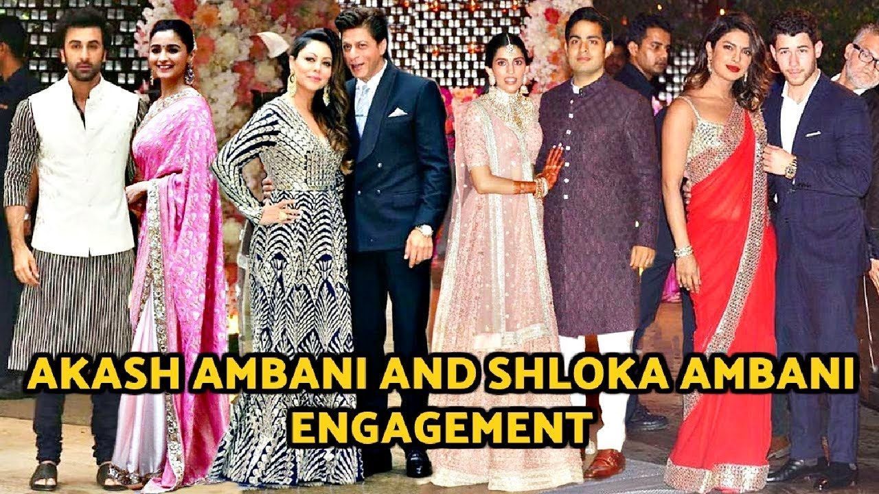Bollywood Couples At Akash Ambani And Shloka Mehta Engagement