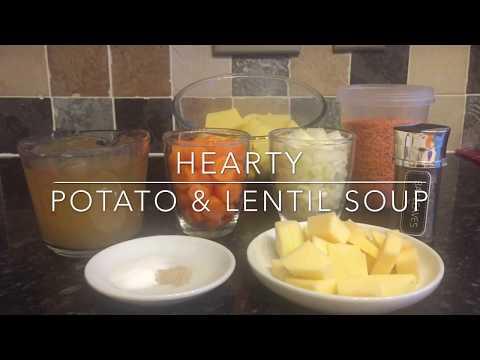 Hearty Lentil & Potato Soup Recipe & Cook With Me!