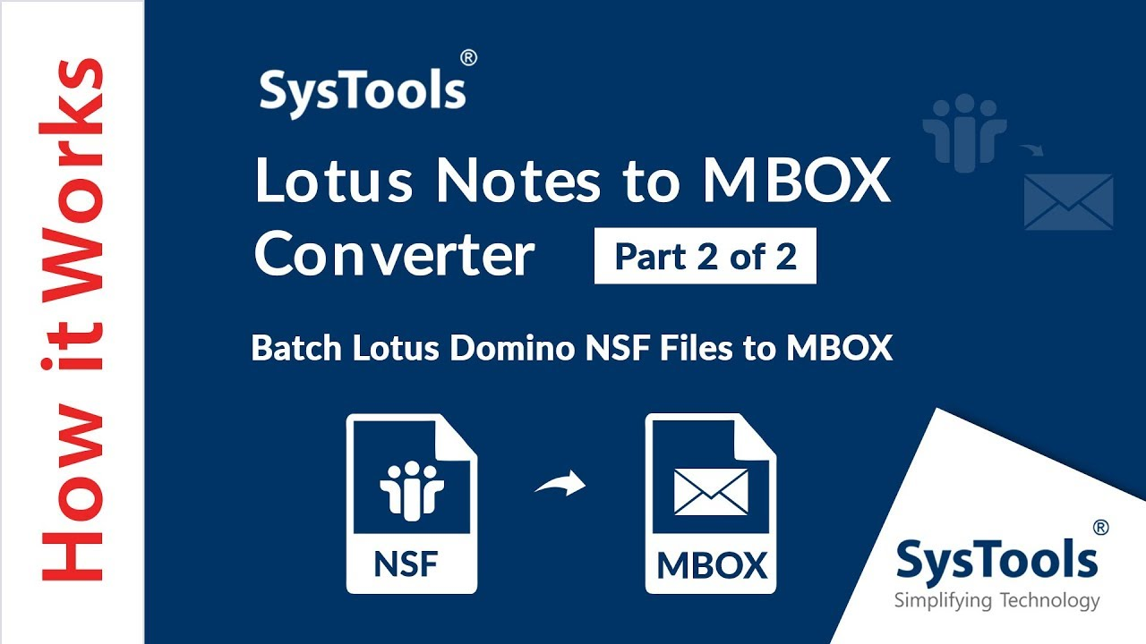 SysTools Lotus Notes to MBOX Converter