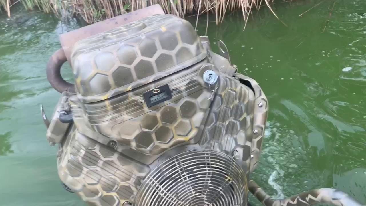 Лодка болотоход-Мотор Briggs&Stratton 40HP