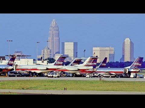 US Airways 1939 departs Charlotte