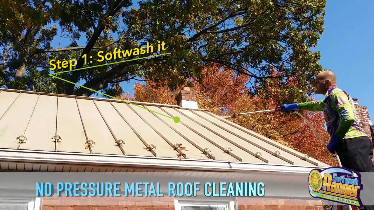 Metal Roof Cleaning Standing Seam