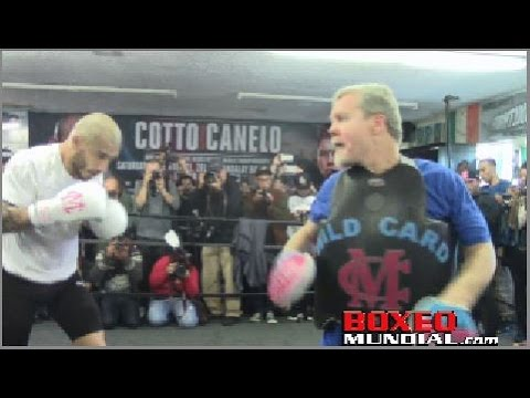 Miguel Cotto Los Angeles Media Day before fight with Canelo