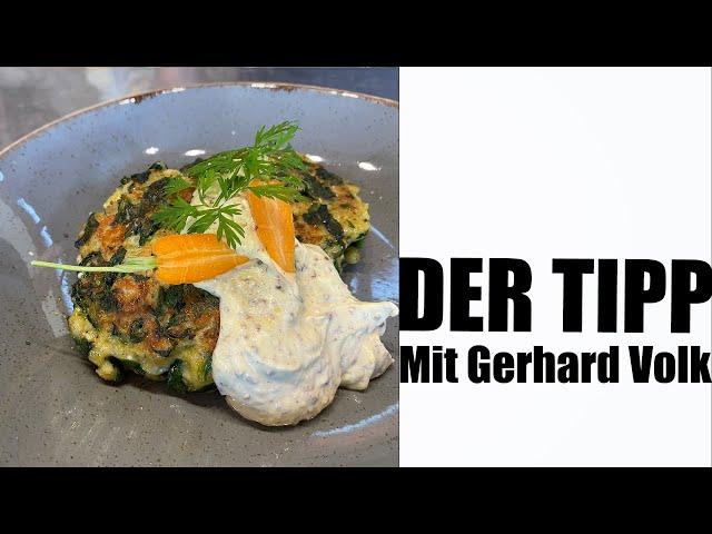 Tipp: Spinat-Patty mit Senf-Creme  | #GRILLDOCHEINFACH