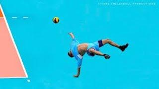 【バレーボール】神懸かったダイナミックレシーブ!どんな状況でも諦めない【スーパープレイ】Volleyball Acrobatic Saves