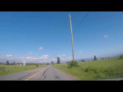 Driving on 0 Avenue, CA/USA border,Langley to Aldergrove, BC🇨🇦