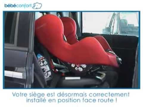 installation face la route du si ge auto groupe 1 neo de bebe confort youtube. Black Bedroom Furniture Sets. Home Design Ideas