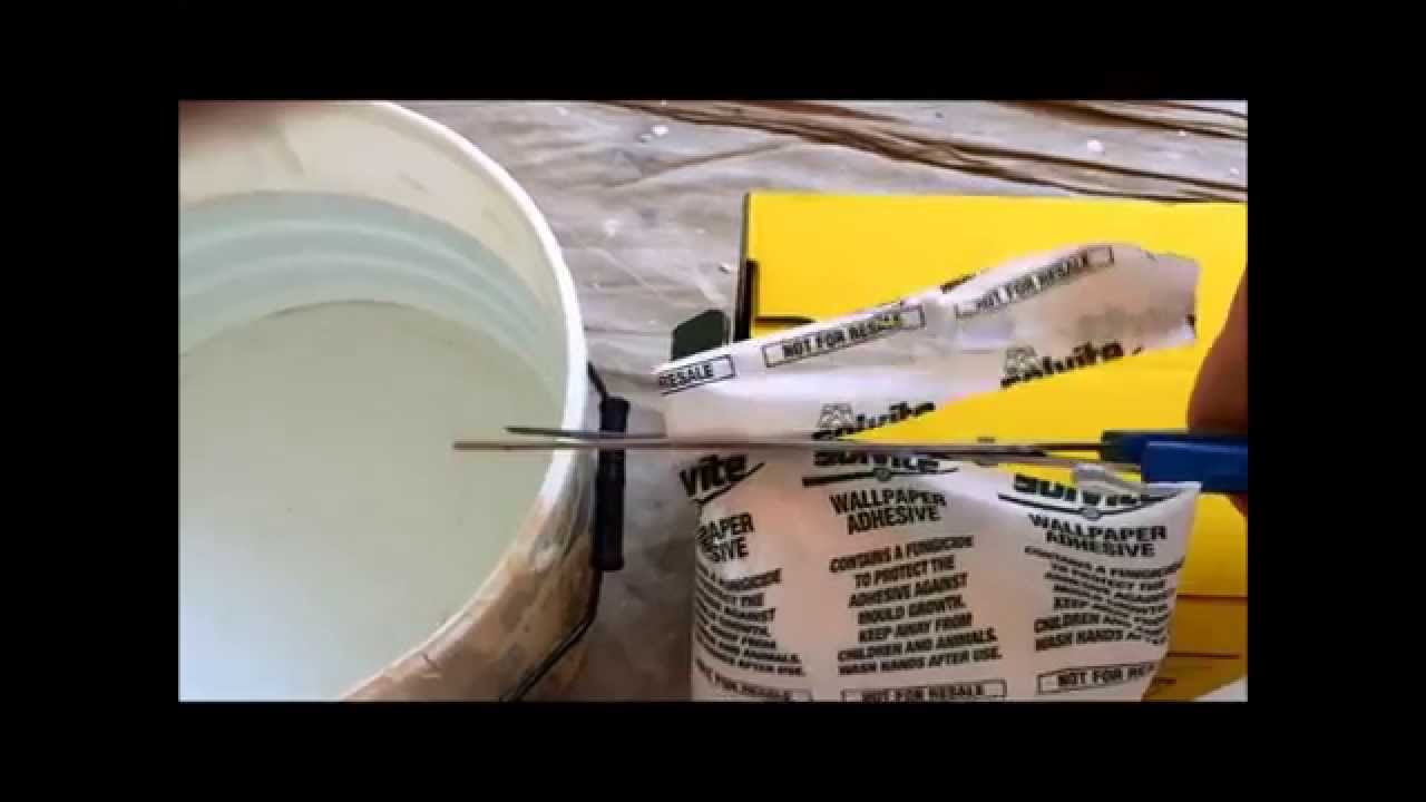 How To Mix Mixing Wallpaper Paste