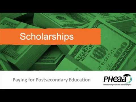 Student Aid Scholarships for 2017-18, by PHEAA